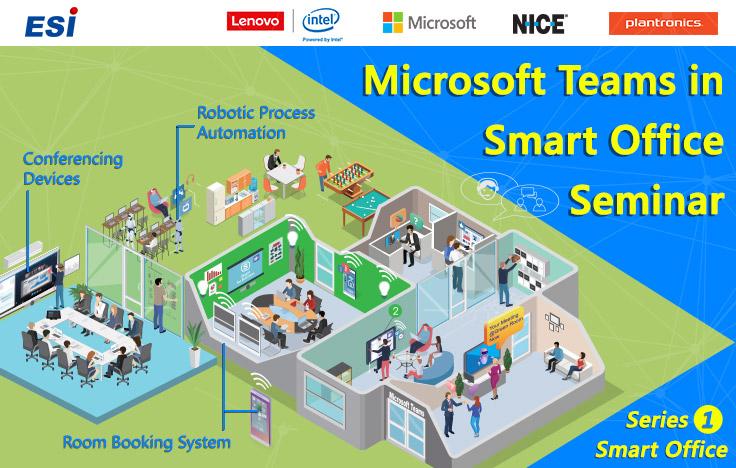 Microsoft Teams in Smart Office Seminar with Lenovo, NICE, Plantronics