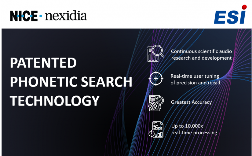 NICE Nexidia – Patented Phonetic Search
